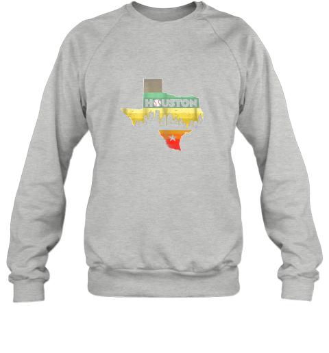 hpto houston retro baseball shirtvintage houston baseball sweatshirt 35 front sport grey