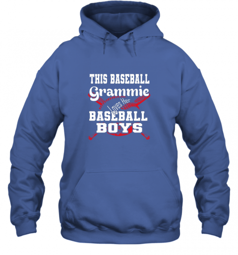 nnhy this baseball grammie loves her baseball boys hoodie 23 front royal