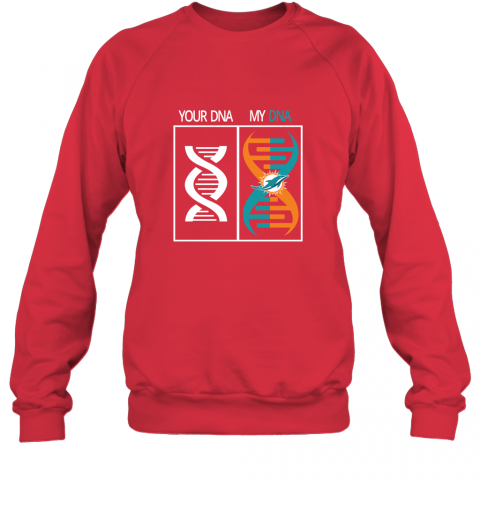 7mvr my dna is the miami dolphins football nfl sweatshirt 35 front red