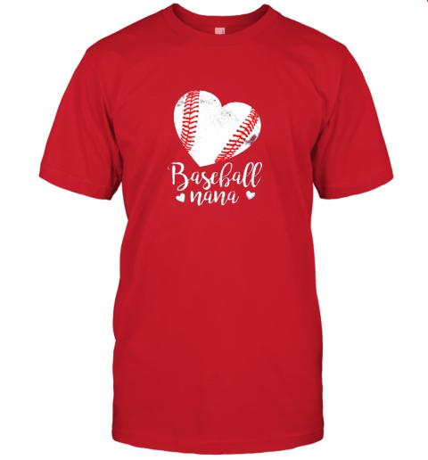 lqe2 funny baseball nana shirt gift for men women jersey t shirt 60 front red