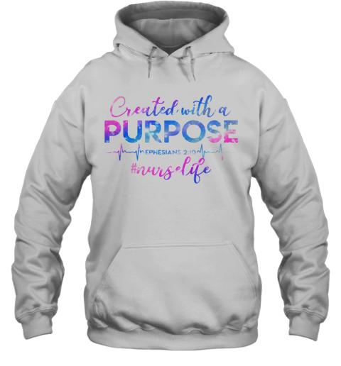 Beat Created With A Purpose Ephesians 210 Nurselife Hoodie