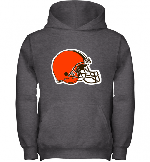 3qw3 cleveland browns nfl pro line by fanatics branded brown victory youth hoodie 43 front dark heather