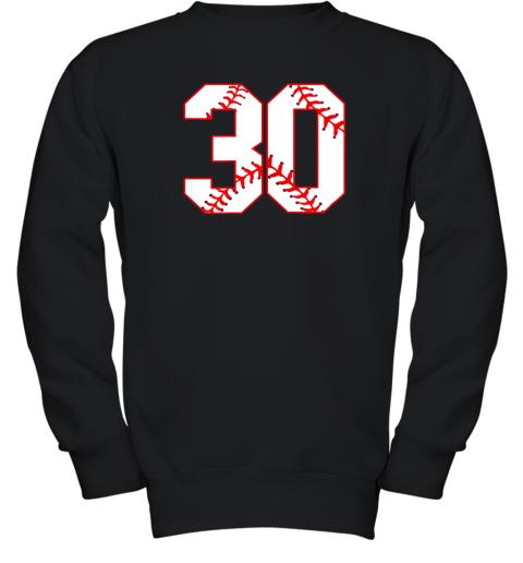 Thirtieth Birthday Party 30th Baseball Shirt Born 1989 Youth Sweatshirt