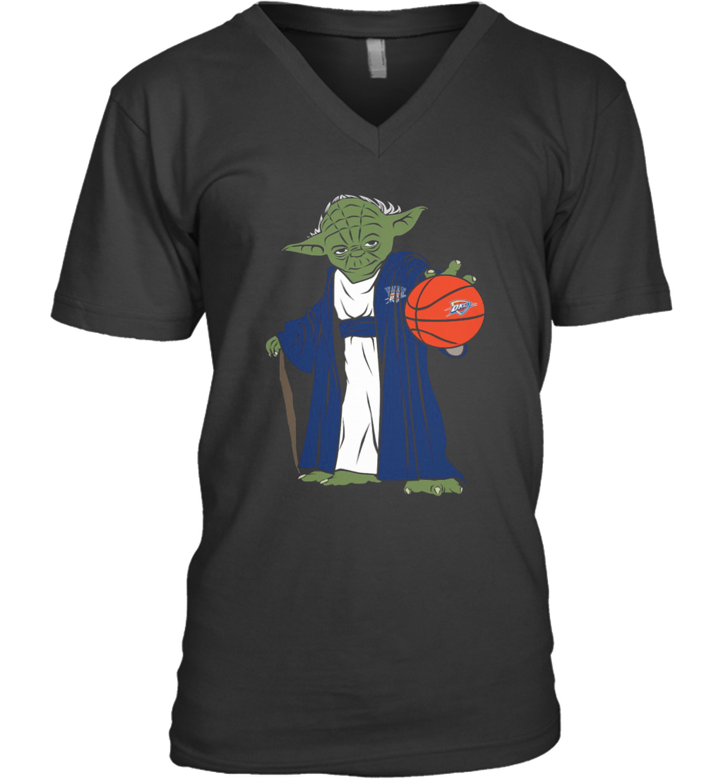 Master Yoda Oklahoma City Thunder V-Neck T-Shirt
