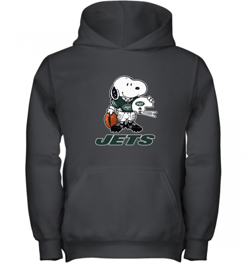 Snoopy A Strong And Proud New York Jets Player NFL Youth Hoodie