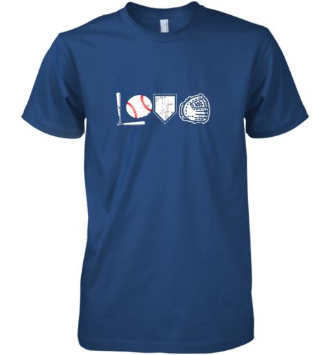 abk0 i love baseball baseball heart premium guys tee 5 front royal