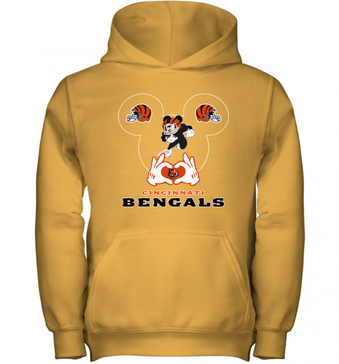 qyyq i love the bengals mickey mouse cincinnati bengals youth hoodie 43 front gold