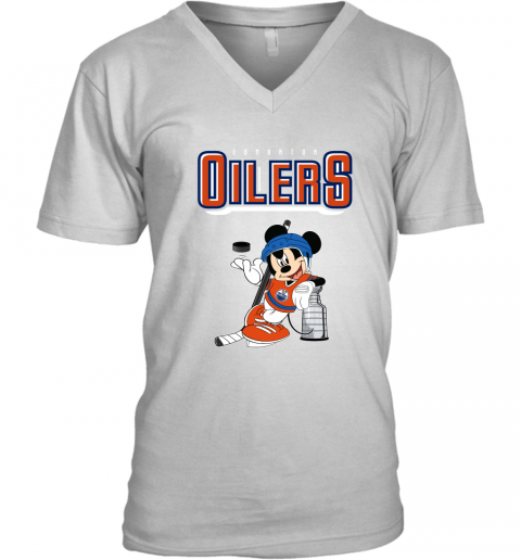 2xpo mickey edmonton oilers with the stanley cup hockey nhl shirt v neck unisex 8 front white