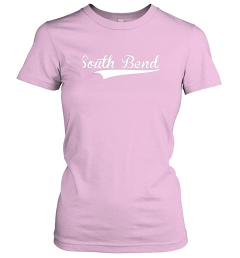 skkk south bend baseball styled jersey shirt softball ladies t shirt 20 front light pink