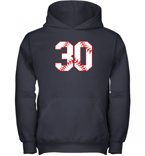 mn4l thirtieth birthday party 30th baseball shirt born 1989 youth hoodie 43 front navy