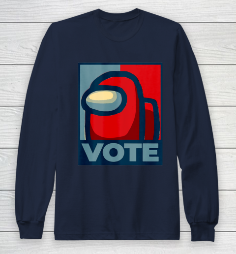 Who is the Impostor neu Among with us start the vote Long Sleeve T-Shirt 4