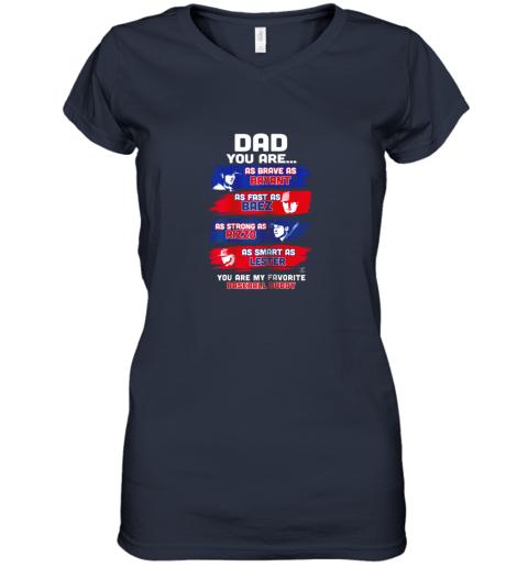 urlf javier baez baseball buddy shirtapparel women v neck t shirt 39 front navy