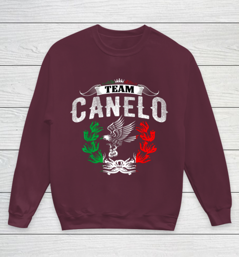 Funny Team Canelos Mexico Alvarez Flag Aguila Tricolor box Youth Sweatshirt 4
