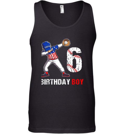 Kids 6 Years Old 6th Birthday Baseball Dabbing Shirt Gift Party Tank Top