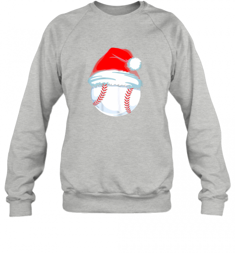 qm12 christmas baseball shirt for kids men ball santa pajama sweatshirt 35 front sport grey