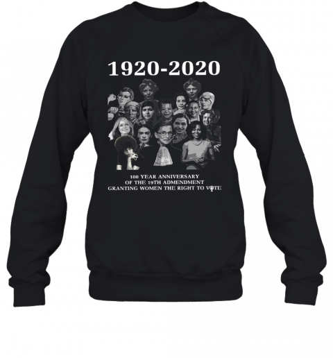 1920 2020 100 Year Anniversary Of The 19Th Amendment Granting Women The Right To Vote Sweatshirt