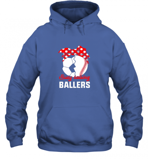 xqf7 busy raising a ballerfunny baseball soccer mom hoodie 23 front royal