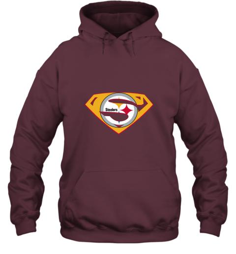 jogm superman steelers hoodie 23 front maroon