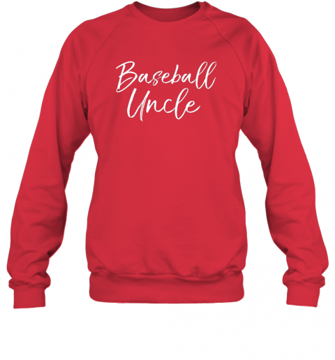 17ml baseball uncle shirt for men cool baseball uncle sweatshirt 35 front red