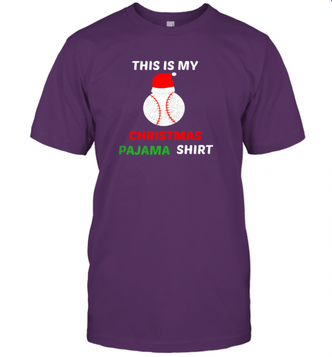 cko2 this is my christmas pajama shirtgift for baseball lover jersey t shirt 60 front team purple