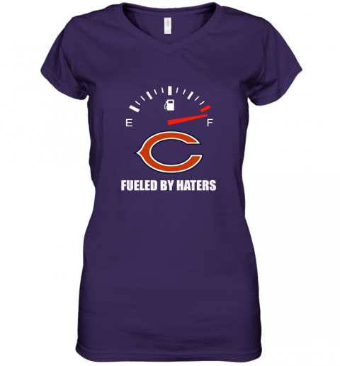 jxn1 fueled by haters maximum fuel chicago bears women v neck t shirt 39 front purple
