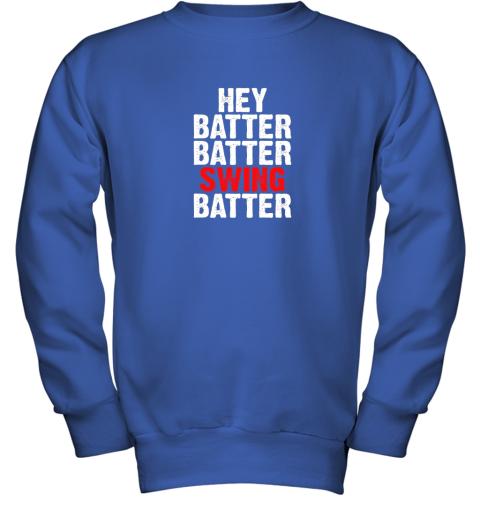 itil hey batter batter swing batter funny baseball youth sweatshirt 47 front royal