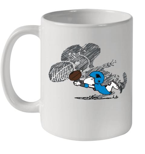 Carolina Panthers Snoopy Plays The Football Game Ceramic Mug 11oz