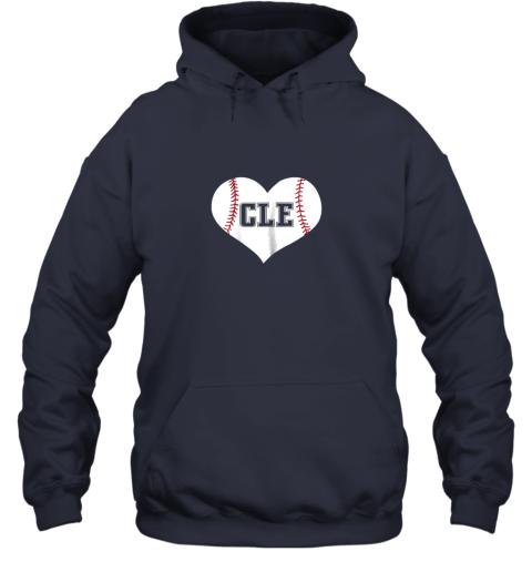 eta9 cleveland ohio baseball love heart cle gift jersey fan hoodie 23 front navy