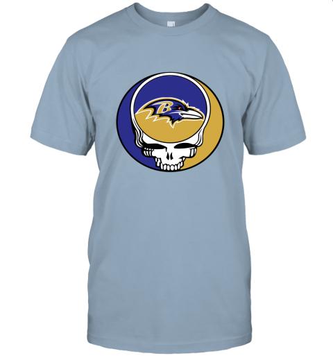 wlr2 nfl team baltimore ravens x grateful dead jersey t shirt 60 front light blue