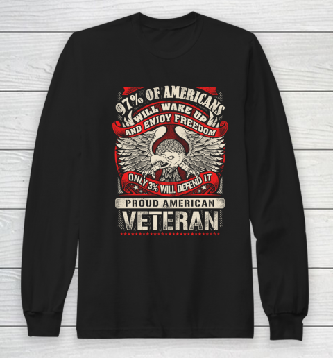 Veteran Shirt Veteran 97% Of American Long Sleeve T-Shirt