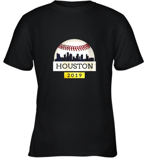 Houston Baseball Shirt 2019 Astro Skyline on Giant Ball Youth T-Shirt