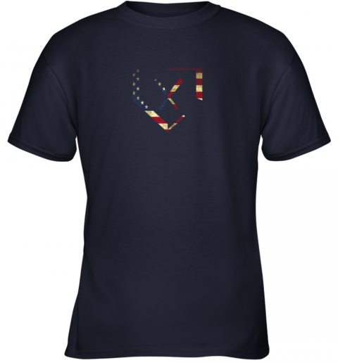 xjrk home plate baseball bats american flag shirt baseballin youth t shirt 26 front navy
