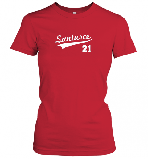 t4zt vintage santurce 21 puerto rico baseball ladies t shirt 20 front red
