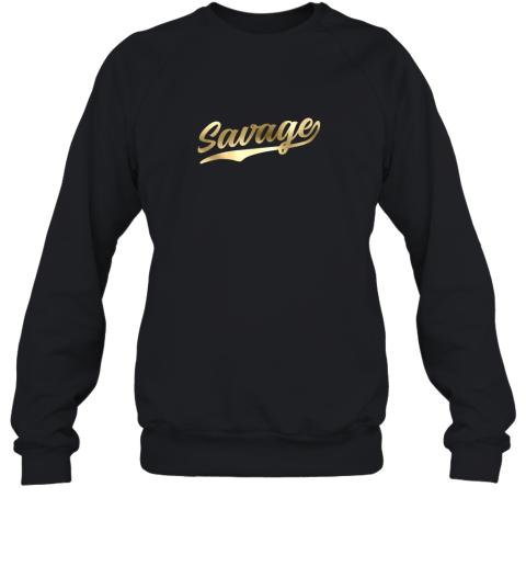 Savage Shirt Retro 1970s Baseball Script Font Sweatshirt