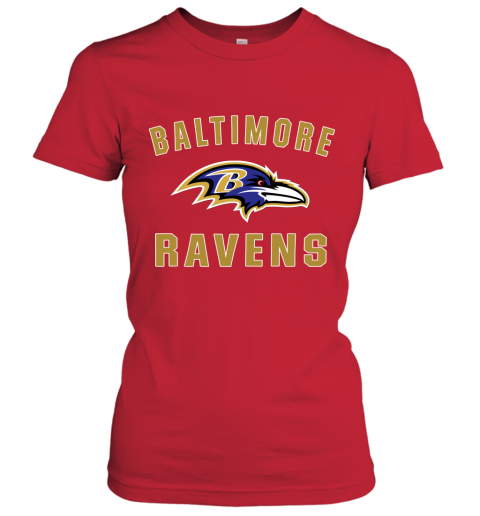6fg8 mens baltimore ravens nfl pro line by fanatics branded gray victory arch t shirt ladies t shirt 20 front red