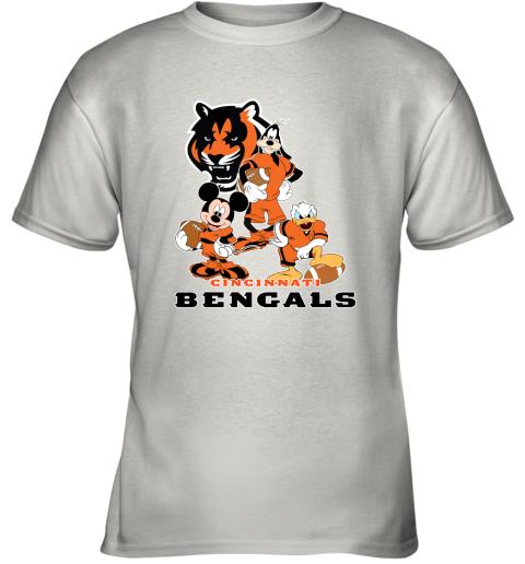 Mickey Donald Goofy The Three Cincinnati Bengals Football Shirts Youth T-Shirt