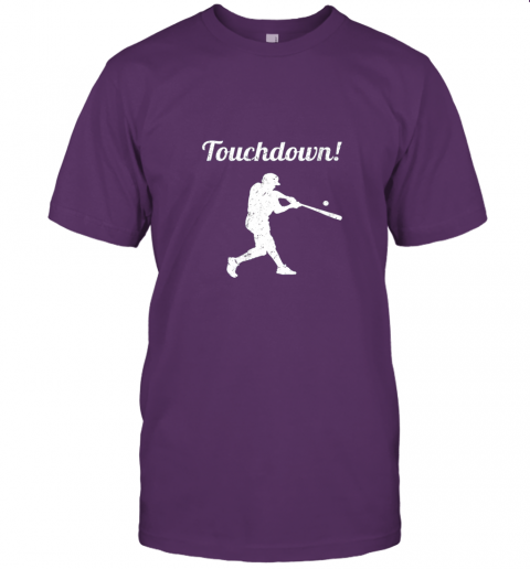 381s touchdown funny baseball jersey t shirt 60 front team purple