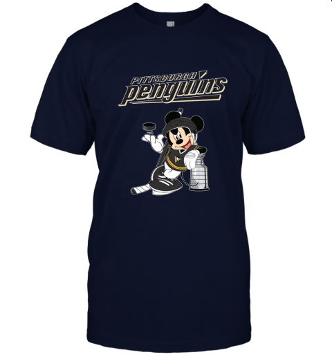 rlsy mickey pittsburgh penguins taking the stanley cup hockey nhl jersey t shirt 60 front navy