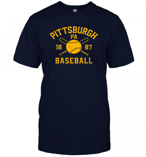 nzh7 vintage pittsburgh baseball pennsylvania pirate retro gift jersey t shirt 60 front navy