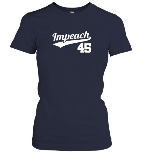 vl77 impeach donald trump 45 baseball logo ladies t shirt 20 front navy