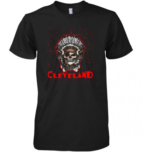 Cleveland Hometown Indian Tribe Vintage Baseball Fan Awesome Premium Men's T-Shirt