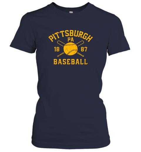 yybn vintage pittsburgh baseball pennsylvania pirate retro gift ladies t shirt 20 front navy