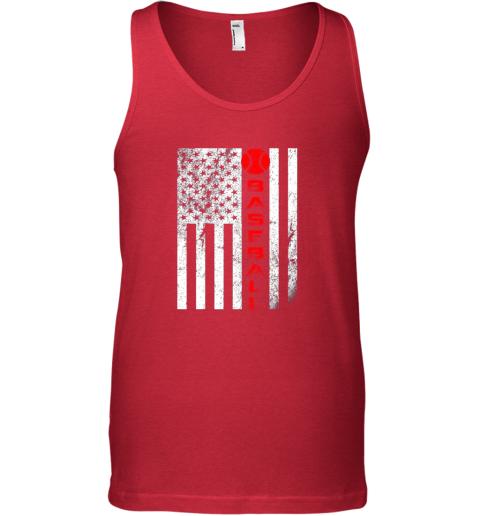 sytt usa red whitevintage american flag baseball gift unisex tank 17 front red