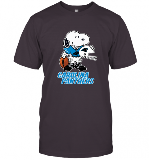 Snoopy A Strong And Proud Carolina Panthers Player NFL Unisex Jersey Tee
