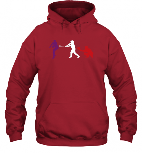 l4hn baseball usa flag american tradition spirit hoodie 23 front red