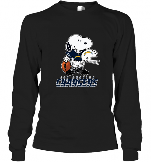 Snoopy A Strong And Proud Los Angeles Chargers NFL Long Sleeve T-Shirt