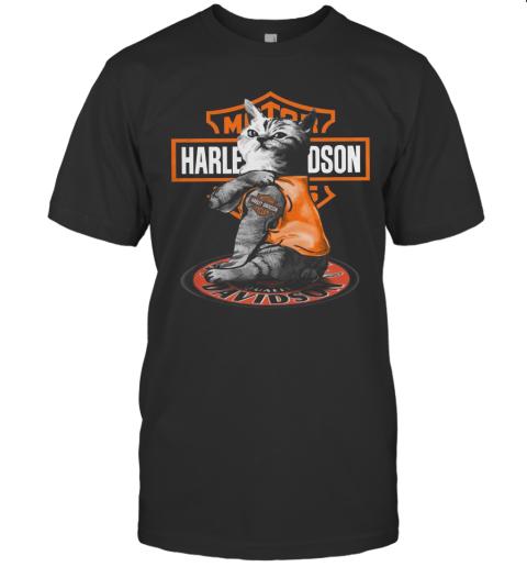 Cat Motor Harley Davidson T-Shirt