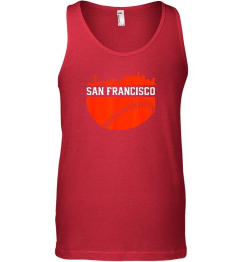 ntc0 san francisco baseball vintage sf the city skyline gift unisex tank 17 front red
