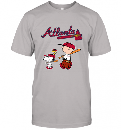 xqql atlanta braves lets play baseball together snoopy mlb shirt jersey t shirt 60 front ash