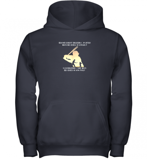 fn4n mens behind every baseball player is a dad that believes youth hoodie 43 front navy